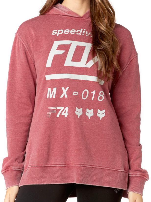 Mikina Fox Draftr dark red L