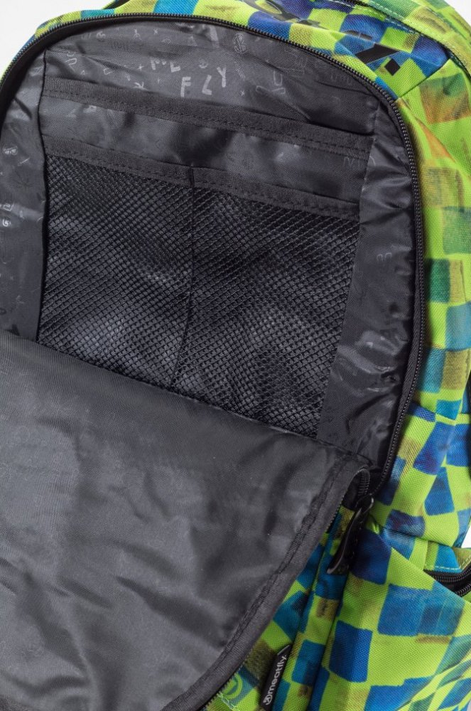 Batoh Meatfly Basejumper cross green print 20l