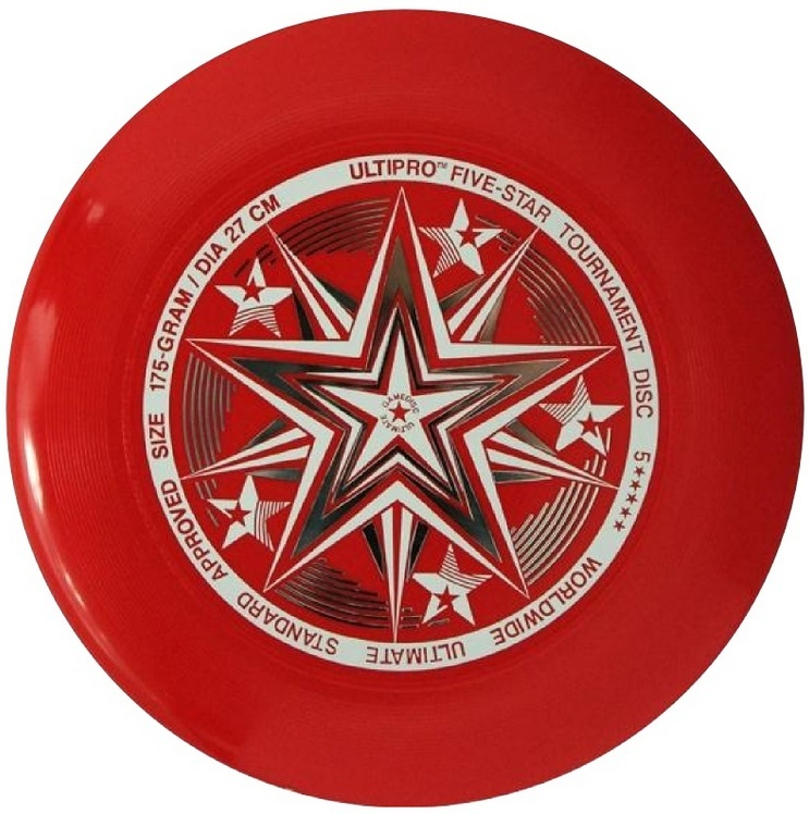 Frisbee UltiPro-FiveStar red