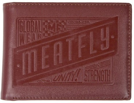 Peněženka Meatfly Cabin brown leather