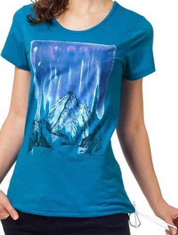 Tričko Horsefeathers Peak heather blue M