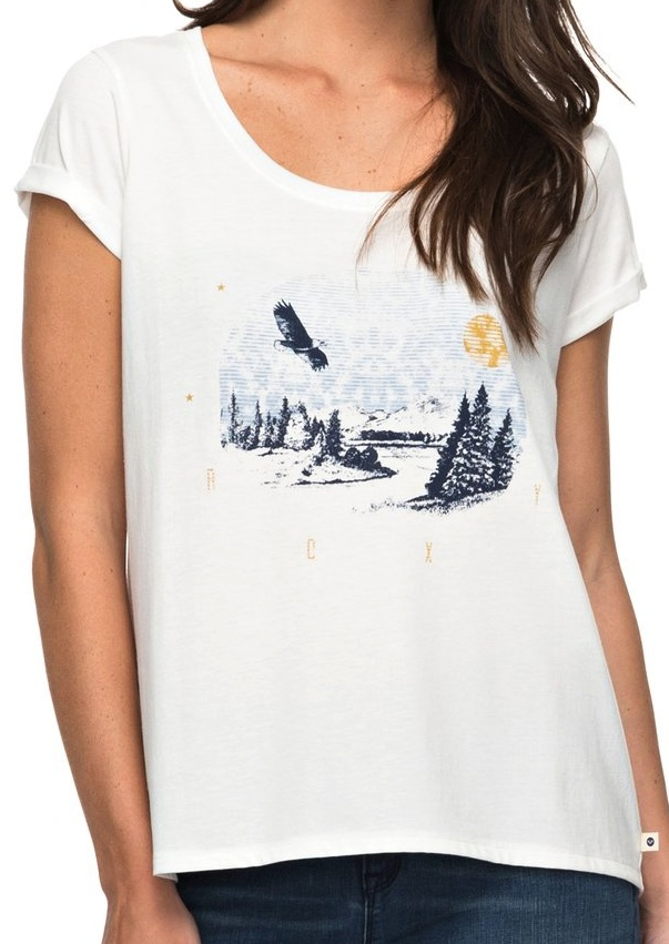 Tričko Roxy Mimi Jungle Eagle Mountain marshmellow L