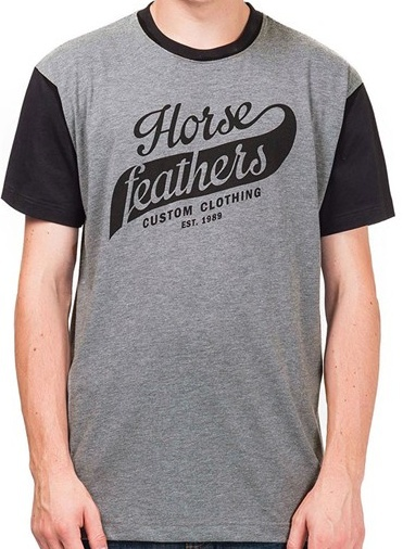 Tričko Horsefeathers Club heather grey XXL