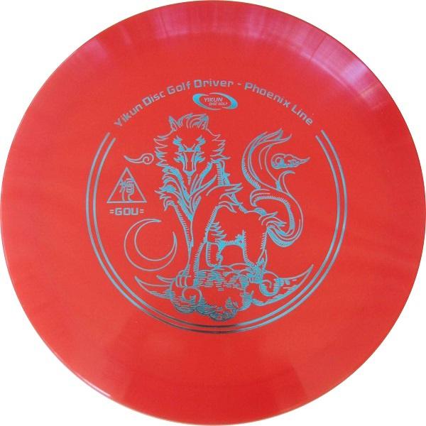 Frisbee Discgolf Gou Driver Phoenix Line red