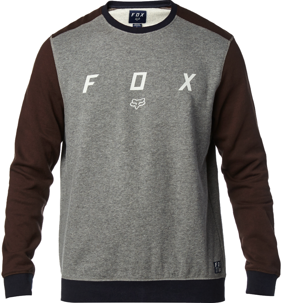 Mikina Fox District Crew heather graphite XL
