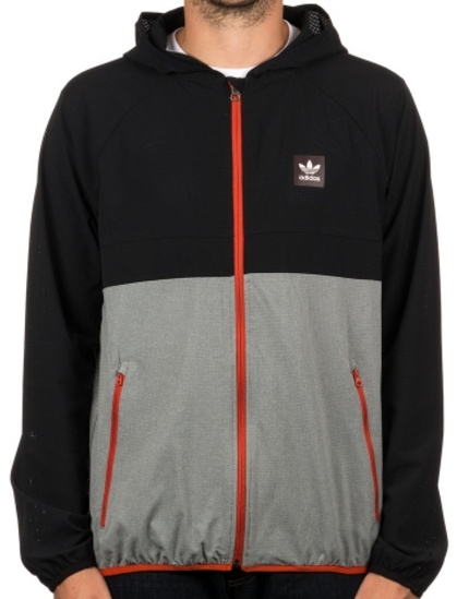 Bunda Adidas Aerotech Windbr black-heathergrey XL