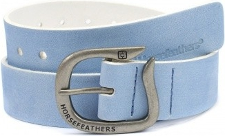 Pásek Horsefeathers Ellie brushed light blue