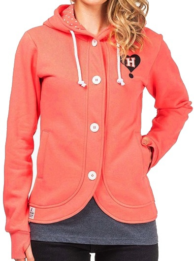 Mikina Horsefeathers Holy coral M