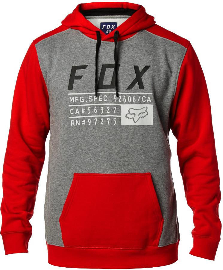 Mikina Fox District 3 dark red XL