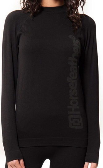 Tričko thermo Horsefeathers Camino Shirt black L/XL