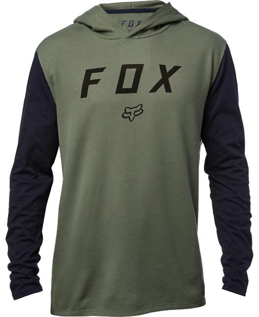 Tričko Fox Tranzit LS Knit dark fatigue L